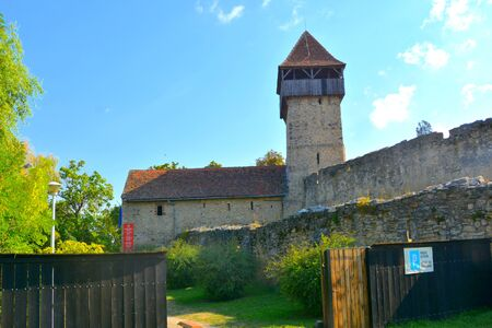 Medieval fortified saxon church in Calnic, Transylvania.
