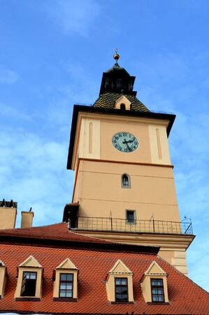City Hall in Brasov. Brasov is a town situated in Transylvania, Romania, in the center of the country. 300.000 inhabitants. Poiana Brasov 12 km near Brasov is a touristic and winter station.