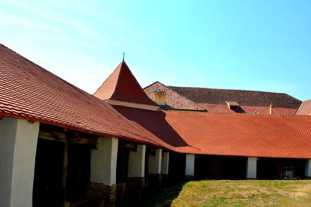 Courtyard of the fortified medieval church in Dirjiu, Transylvania In Dirjiu there is an intersting fortified church.