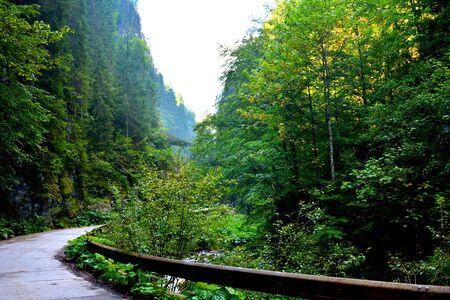 Odancusii Pass.   Apuseni Mountains, Transylvania The Apuseni Mountains is a mountain range in Transylvania, Romania, which belongs to the Western Romanian Carpathians, also called Occidentali in Romanian. The Apuseni Mountains have about 400 caves. Stock Photo