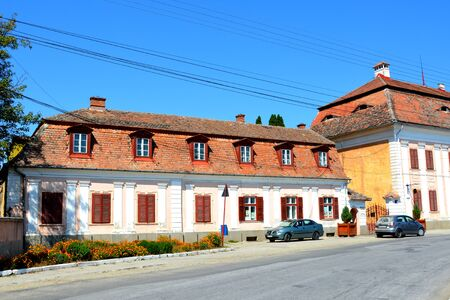 saxon: Baron von Brukenthal Palace in Avrig, Transylvania In Avrig there are a collection of historical monuments.Centuries XI - XVI. Editorial