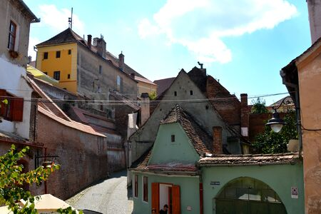 characteristic: Typical urban landscape in the city Sibiu, Transylvania. Sibiu is one of the most important cultural centres of Romania and was designated the European Capital of Culture for the year 2007, along with the city of Luxembourg.