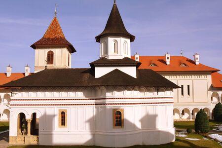 Church of Monastery . Monastery Sambata is a Romanian Orthodox monastery in Sambata de Sus, Brasov County, in the Transylvania region of Romania. Stock Photo