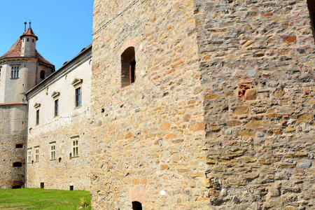 precisely: Fortress of Fagaras, county of Brasov, Transylvania. Construction of the fortress began in 1310, over an old fortification of earth and wood dating from the twelfth century. The purpose of building the city was essentially strategic, more precisely in def