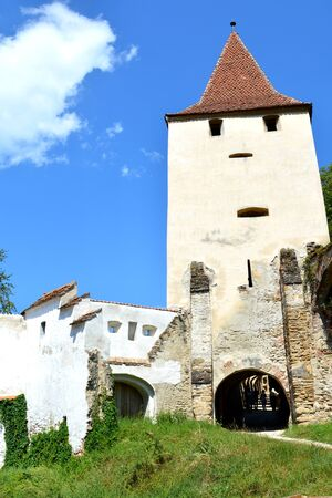 mountain pass: Tower.  Fortified medieval church Biertan, Transylvania. Biertan is one of the most important Saxon villages with fortified churches in Transylvania. The Biertan fortified church was the see of the Lutheran Evangelical Bishop in Transylvania between 1572