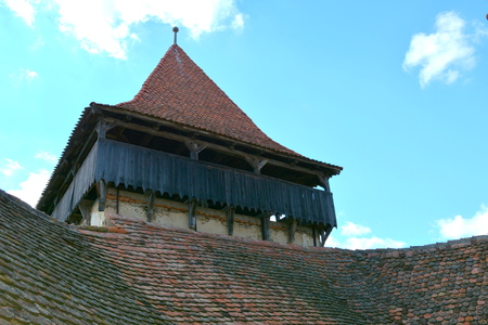Tower. Viscri is known for his fortified church. The fortified church in this village was built around 1100 AD. It is part of a area if villages with fortified churches in Transylvania.