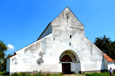 Fortified medieval old saxon evanghelic church in Halmeag (Transylvania) In Transylvania there are many saxon churches. This church is 800 years old.