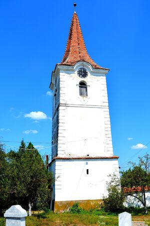 Tower. Fortified medieval old saxon evanghelic church in Halmeag (Transylvania) In Transylvania there are many saxon churches. This church is 800 years old.