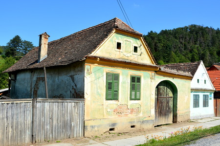 Typical house in the village Malancrav, Transylvania. Stock Photo