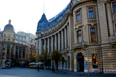 Typical urban landscape in the centre of Bucharest - Bucuresti Bucharest is the capital of Romania. Bucharest have 3 millions inhabitants and many historical vestiges.