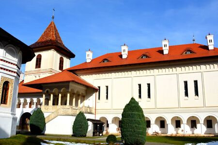 monastery: Monastery Sambata is a Romanian Orthodox monastery in Sâmb?ta de Sus, Bra?ov County, in the Transylvania region of Romania. Dedicated to the Dormition of the Mother of God, it is also known as the Brâncoveanu Monastery M?n?stirea Brâncoveanu.