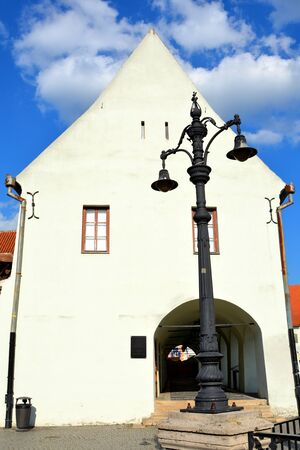 designated: Typical urban landscape in the city Sibiu, Transylvania Sibiu is one of the most important cultural centres of Romania and was designated the European Capital of Culture for the year 2007, along with the city of Luxembourg. Stock Photo