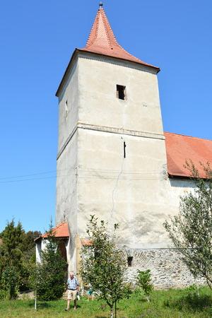 biertan: Tower of the medieval fortified saxon church in Avrig, Sibiu county, Transylvania.