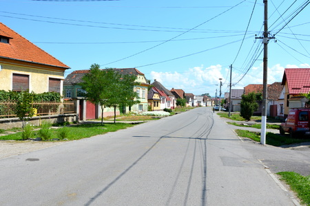 Typical houses in thevillage Bod, Transylvania (German: Brenndorf)  a commune in Bra?ov County, Romania. It is composed of two villages, Bod and Colonia Bod. At Bod there is one of Romanias largest sugar factories and an old medieval fortified church (fr