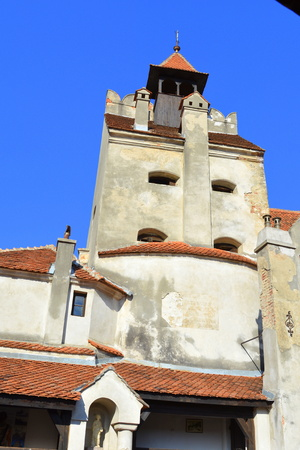 sunday market: Bran castle, home of Dracula, Brasov, Transylvania The medieval Bran Castle, which was once besieged by Vlad the Impaler, is a popular tourist destination, partly because it resembles the home of Dracula in Bram Stoke s famous novel. Editorial