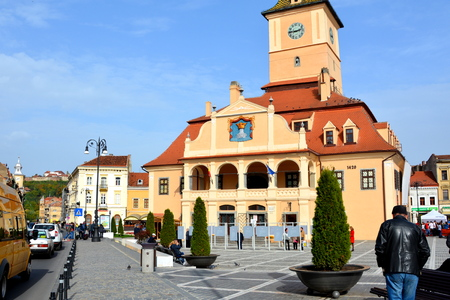 Market Square. Brasov is a town situated in Transylvania, Romania, in the center of the country. 300.000 inhabitants.