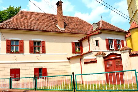 Typical house near the medieval fortified church Cristian, Transylvania The town was first mentioned in a letter written in 1420 by King Sigismund of Luxembourg. The local church and the bell tower were built around 1300. In the 15th century a fortress wa Editorial