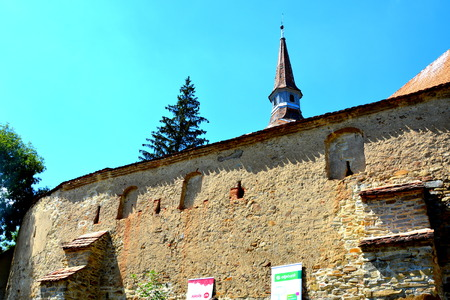 Medieval saxon fortified church Crit, Transylvania.