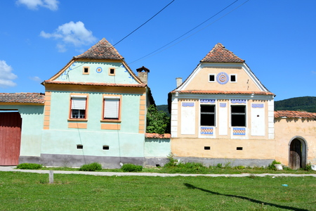 Typical houses in the village Crit, Transylvania. Editorial
