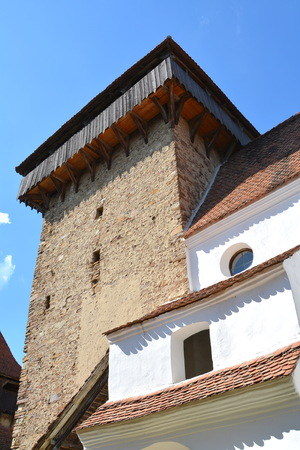 recently: Fortified medieval saxon church in the village Viscri, Transylvania. .Viscri is known for his fortified church. The fortified church in this village was built around 1100 AD. It is part of a area if villages with fortified churches in Transylvania.