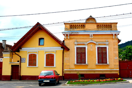Typical house in the village Codlea, Transylvania.