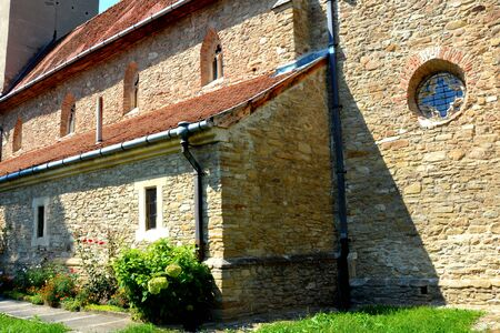 characteristic: Fortified medieval church in the village Malancrav, Transylvania. Here some of the most significant Gothic murals in Transylvania. The Saxon Romanesque Lutheran church has early 14th-century Gothic murals in the apse. 15th-century ones are found in the na