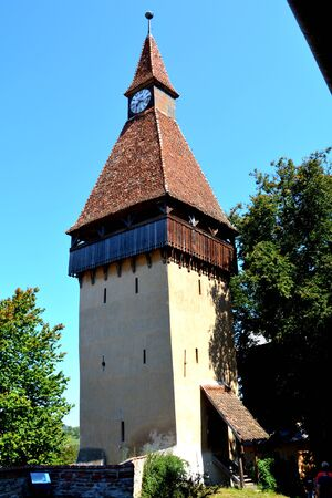 Fortified medieval church Biertan, Transylvania. Biertan is one of the most important Saxon villages with fortified churches in Transylvania. The Biertan fortified church was the see of the Lutheran Evangelical Bishop in Transylvania between 1572 and 1867