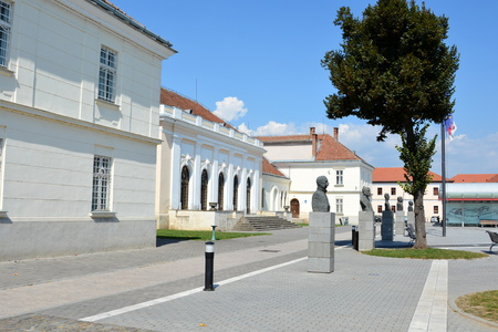 mentioned: Centre of the city Alba Iulia. Medieval fortress Alba Iulia, Transylvania. The modern city is located near the site of the important Dacian political, economic and social centre of Apulon, which was mentioned by the ancient Greek geographer Ptolemy. Alba
