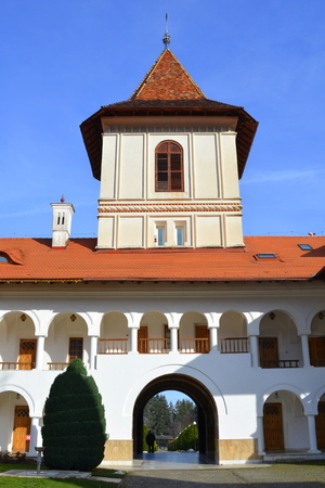 suggestive: Monastery Sambata is a Romanian Orthodox monastery in Sambata de Sus, Brasov County, in the Transylvania region of Romania. Dedicated to the Dormition of the Mother of God, it is also known as the Brancoveanu