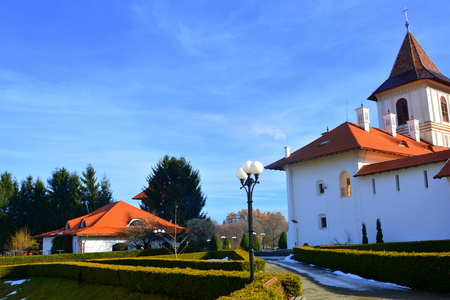 Monastery Sambata is a Romanian Orthodox monastery in Sambata de Sus, Brasov County, in the Transylvania region of Romania. Dedicated to the Dormition of the Mother of God, it is also known as the Brancoveanu