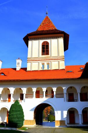 in monastery: Monastery Sambata is a Romanian Orthodox monastery in Sambata de Sus, Brasov County, in the Transylvania region of Romania. Dedicated to the Dormition of the Mother of God, it is also known as the Brancoveanu