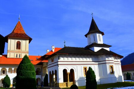 monastery: Monastery Sambata is a Romanian Orthodox monastery in Sambata de Sus, Brasov County, in the Transylvania region of Romania. Dedicated to the Dormition of the Mother of God, it is also known as the Brancoveanu