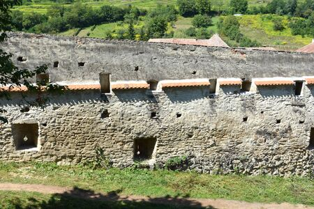 burg: Fortified medieval church Biertan, Transylvania. Biertan is one of the most important Saxon villages with fortified churches in Transylvania. The Biertan fortified church was the see of the Lutheran Evangelical Bishop in Transylvania between 1572 and 1867