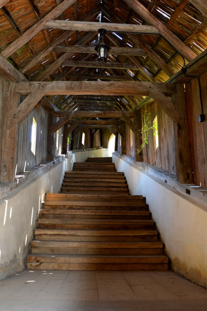 Bridge. Fortified medieval church Biertan, Transylvania. Biertan is one of the most important Saxon villages with fortified churches in Transylvania, having been on the list of UNESCO World Heritage Sites since 1993. The Biertan fortified church was the s