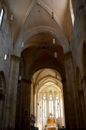 mentioned: Inside the church of the medieval fortress Alba Iulia, Transylvania. The modern city is located near the site of the important Dacian political, economic and social centre of Apulon, which was mentioned by the ancient Greek geographer Ptolemy. Alba Iulia  Editorial