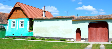 Typical house in the village Crit, Transylvania. Editorial