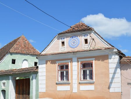 deported: Typical house in the village Crit, Transylvania. Stock Photo