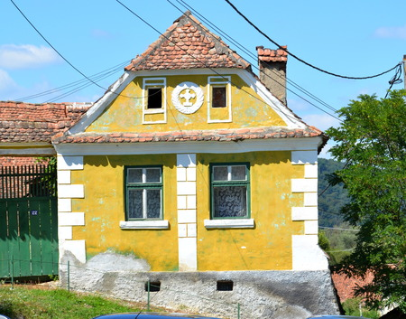 Typical house in the village Crit, Transylvania.The villagers started building a single-nave Romanesque church, which is uncommon for a Saxon church, in the 13th century. They began construction by building the first choir and a semicircular apse, which o