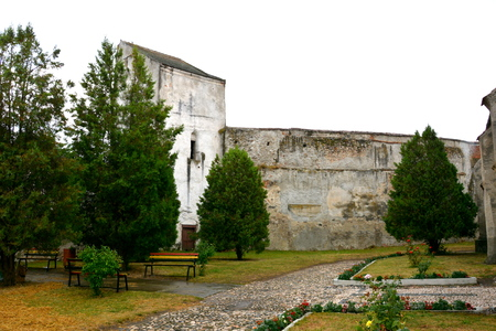 recently: Courtyard of the fortified medieval church Ghimbav, Transylvania The town was first mentioned in a letter written in 1420 by King Sigismund of Luxembourg. The local church and the bell tower were built around 1300. In the 15th century a fortress was built