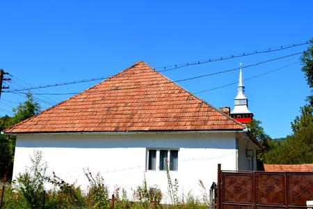 Typical house in the village Rosia Montana.  Gold mine Rosia Montana, Transylvania