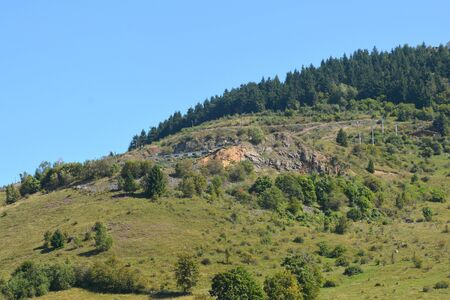 burg: Landscape in Rosia Montana.  Gold mine Rosia Montana, Transylvania