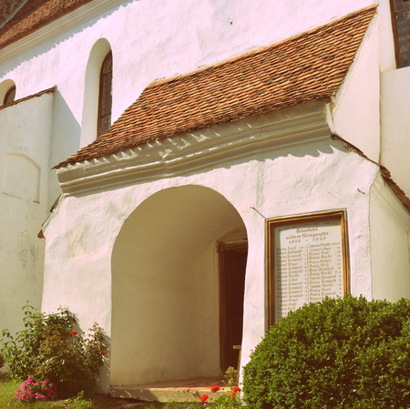 recently: Typical houses in the village Viscri, Transylvania. Viscri is known for his fortified church. The fortified church in this village was built around 1100 AD. It is part of a area if villages with fortified churches in Transylvania.