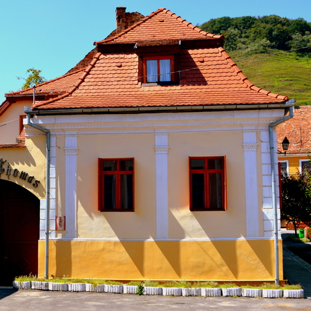 Typical house in the village Biertan. Biertan is one of the most important Saxon villages with fortified churches in Transylvania, having been on the list of UNESCO World Heritage Sites since 1993. The Biertan fortified church was the see of the Lutheran  Editorial
