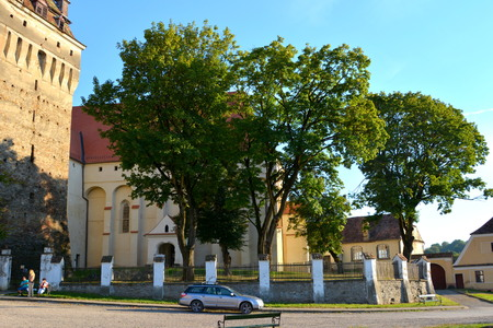 biertan: Medieval fortified saxon church Saschiz Keisd, Transylvania. The fortified church is a church in Keisd Wurmloch in the Transylvania region of Romania. It was built by the ethnic German Transylvanian Saxon community. Together with the surrounding village,