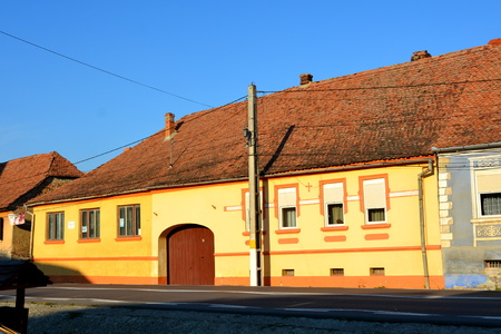 Typical house of the village Saschiz Keisd, Transylvania. The fortified church is a church in Keisd Wurmloch in the Transylvania region of Romania. It was built by the ethnic German Transylvanian Saxon community. Together with the surrounding village, the