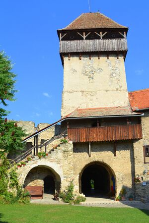 preserved: Courtyard of the medieval fortified saxon church in Calnic, Transylvania Câlnic village is known for its castle, which is on UNESCOs list of World Heritage Sites. Câlnic Citadel, first mentioned in 1269, is very well preserved. Built as a nobles resid
