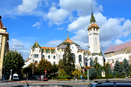 City Hall. Typical urban landscape in Targu-Mures, Romania Targu Mures is a nice romanian town in the center of Transylvania. Editorial