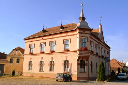 saxon: Typical house in the village Saschiz, Transylvania.