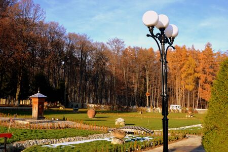burg: Courtyard. Monastery Sambata is a Romanian Orthodox monastery in S�mb?ta de Sus, Bra?ov County, in the Transylvania region of Romania. Dedicated to the Dormition of the Mother of God, it is also known as the Br�ncoveanu Monastery M?n?stirea Br�ncoveanu.