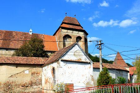 biertan: Fortified medieval church in Vineyard Valley, Transylvania Valea Viilor fortified church is a Lutheran fortified church in Valea Viilor (Wurmloch), Sibiu County, in the Transylvania region of Romania. Stock Photo